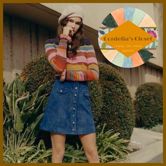 Anthropologie Dresses & Skirts - NWT! [ Anthropologie ] Button Front Mini Skirt 14